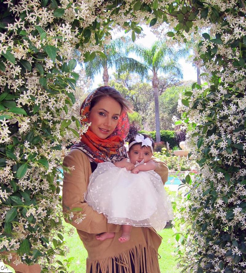 اولین عکس منتشر شده از شبنم قلی خانی و دخترش