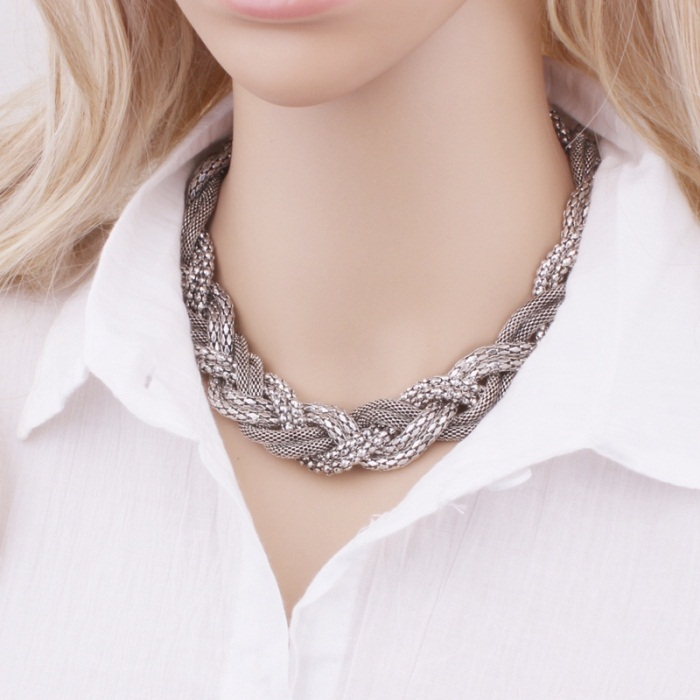 مدل های جدید گردنبند زنجیری بزرگ زنانه