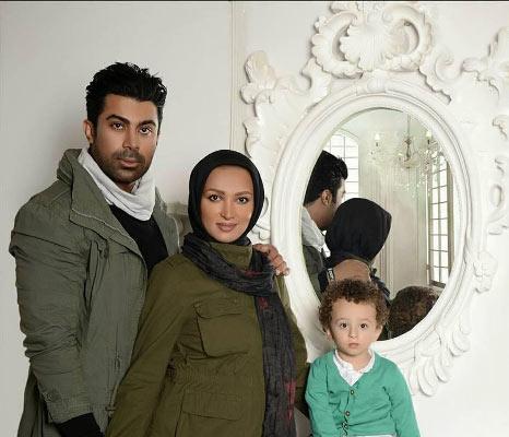روناک یونسی در کنار همسر و پسرش / عکس