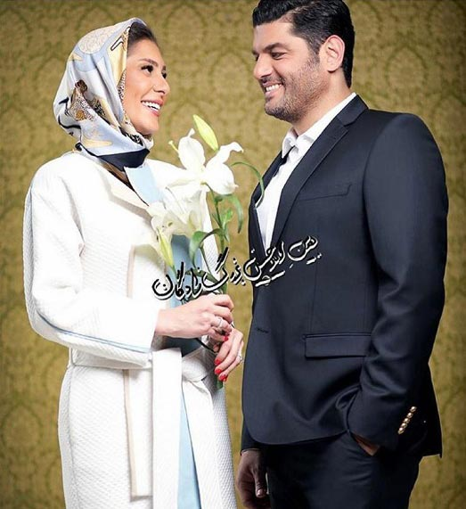 عکسی عاشقانه از سام درخشانی و همسرش
