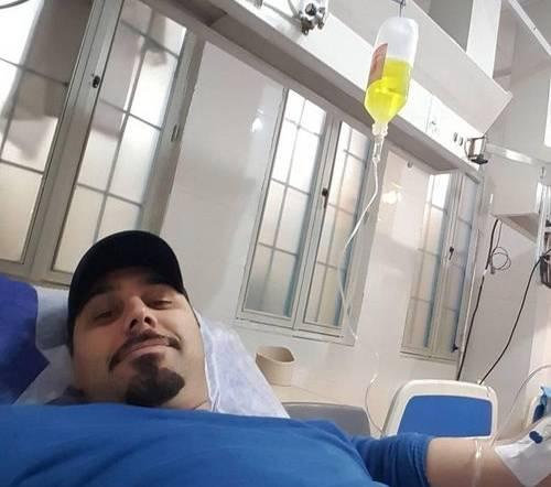احسان خواجه امیری در بیمارستان بستری شد + عکس