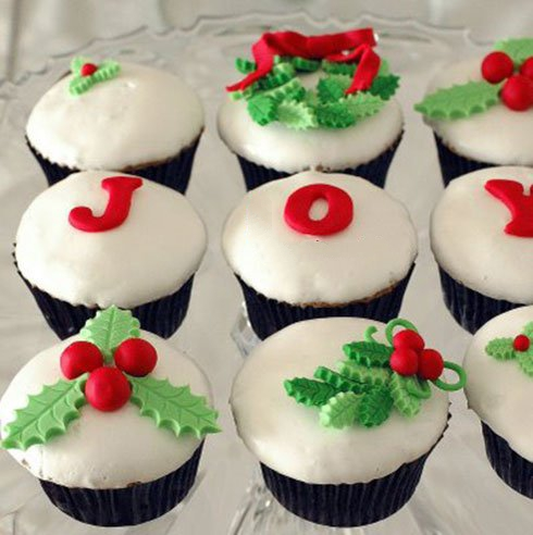 نمونه هایی از تزیین شیرینی برای کریسمس