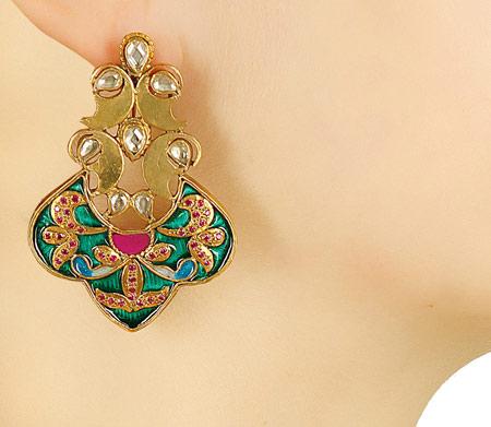 مدل های شیک گوشواره هندی / طلای هندی