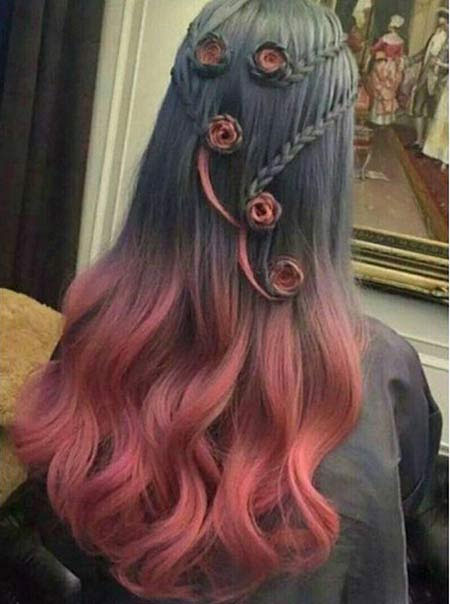 انواع رنگ مو فانتزی زنانه و دخترانه ۲۰۱۶