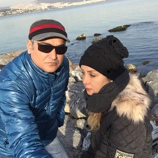 تیپ زمستانی حدیث فولادوند و همسرش / عکس
