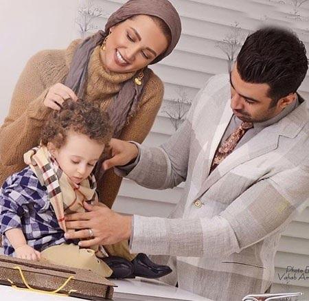 روناک یونسی در کنار همسر و فرزندش / عکس