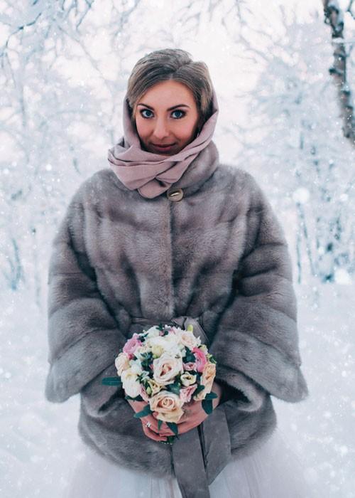 عروس در دمای منفی ۴۰ بله گفت +عکس