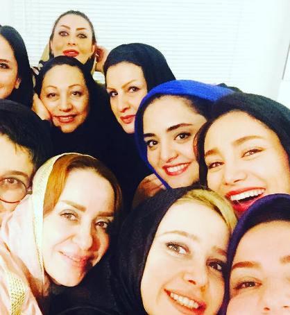 نرگس محمدی،الناز حبیبی و بهاره افشاری در مهمانی زنانه+عکس