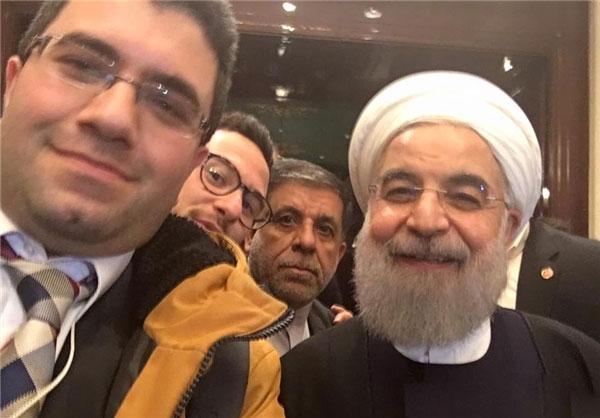 خبرنگار روزنامه گاردین و سلفی با روحانی !!