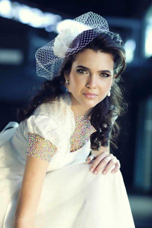 جدیدترین مدل تزیین مو عروس با تور و گل