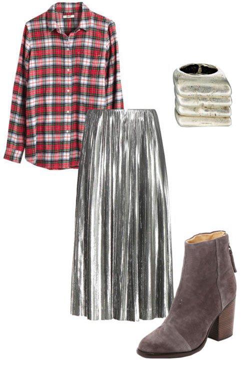 ست کردن لباس با دامن نقره ای / شیک و جدید