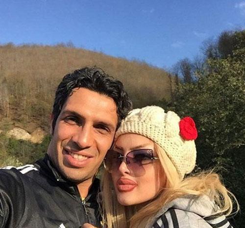 عکس منشوری و جدید از سپهر حیدری و همسرش