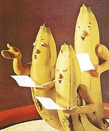 ایده هایی جالب در میوه آرایی با موز