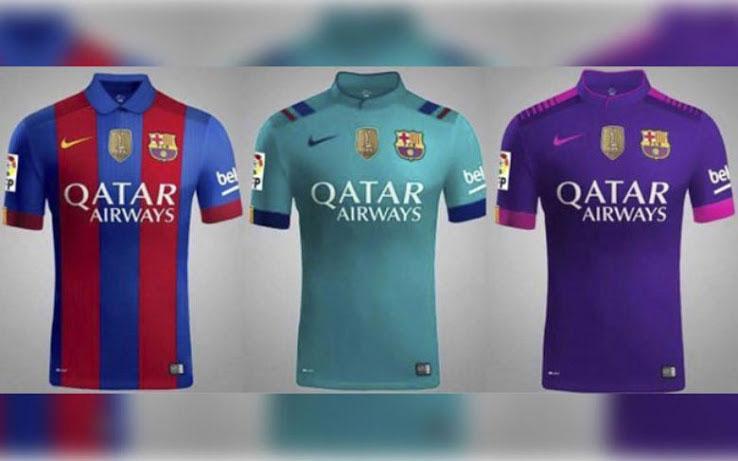 تصویر لو رفته پیراهن بارسلونا در فصل آینده