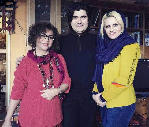 عکس یادگاری سالار عقیلی و همسرش با سیما بینا