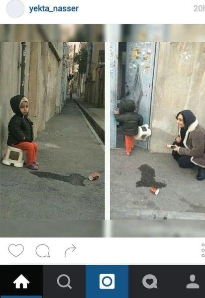 پسری که اجازه نداد بازیگر زن ایرانی در کنارش عکس بگیرد! + عکس