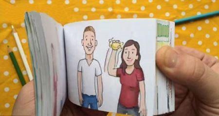 خواستگاری جالب و خلاقانه یک مرد از دوست دخترش