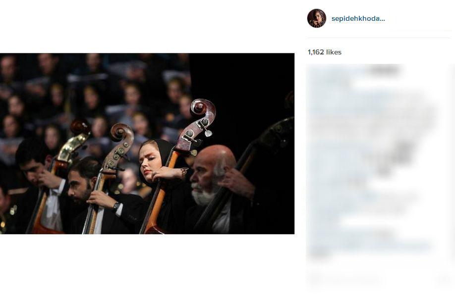 نوازندگی سپیده خداوردی در ارکستر ملی + عکس