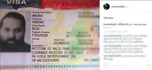 خواننده مشکی پوش رضا صادقی به آمریکا رفت +عکس