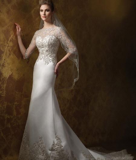 انواع مدلهای جدید لباس عروس دانتل دار