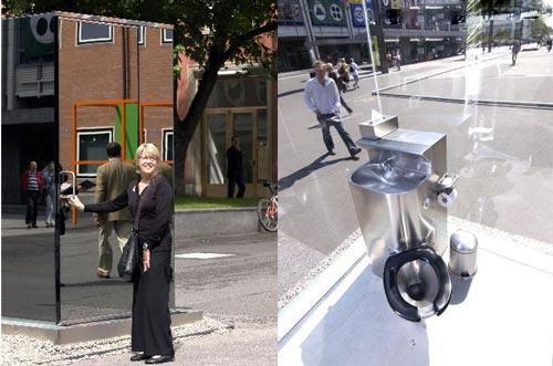 توالت عمومی شیشه ای در خیابان های سوئیس+عکس