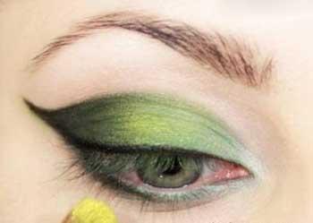 شیک ترین مدل آرایش چشم با سایه سبز