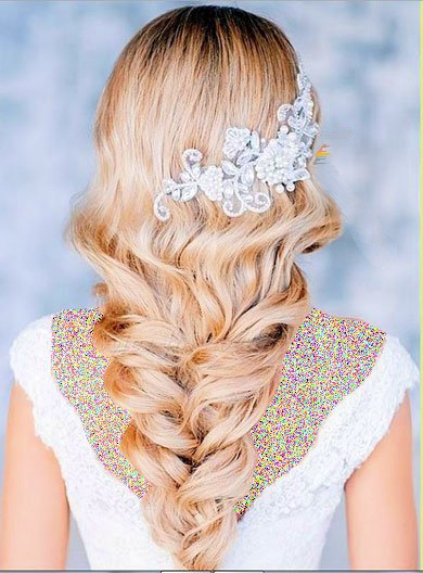 شیک ترین مدل های شینیون عروس / مدل موی باز