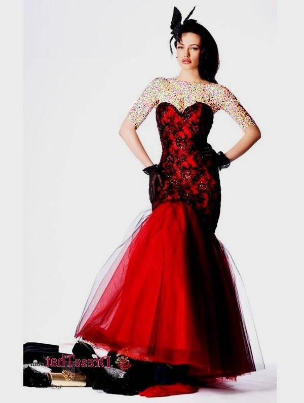 مدل های لباس مجلسی قرمز و مشکی ۲۰۱۶