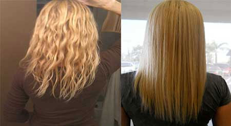 روش صاف کردن موی وز در خانه +عکس