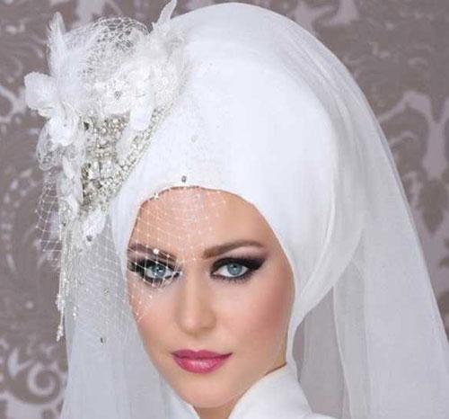زیباترین مدل تاج و تور عروس محجبه ۲۰۱۶