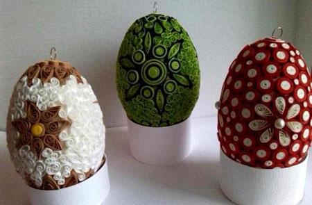 تزیین تخم مرغ با کاغذهای رنگی