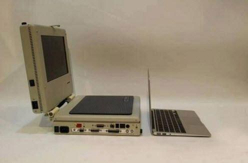 لپ تاپ های ۲۵ سال پیش این شکلی بود + عکس