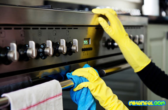 روش برق انداختن و تمیز کردن اجاق گاز