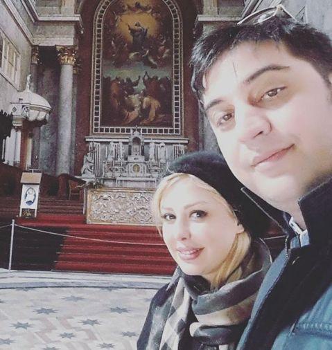 عکس جدید نیوشا ضیغمی و همسرش در خارج از کشور