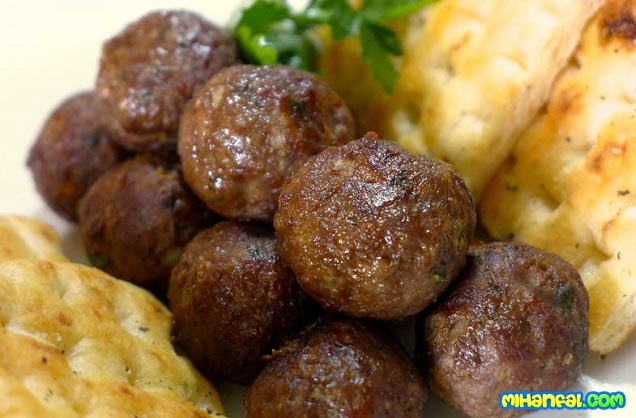 طرز تهیه کوفته گوشت یونانی