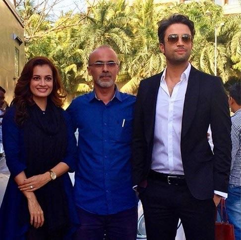 بنیامین بهادری در کنار ملکه زیبایی هند + عکس