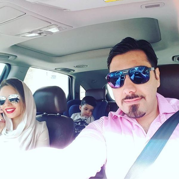 عید دیدنی احسان خواجه امیری با همسر و پسرش + عکس