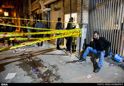 عکس: انفجار در بازار تهران