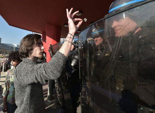 تظاهرات دانشجویان فرانسوی در شهر استراسبورگ علیه تغییر قانون کار