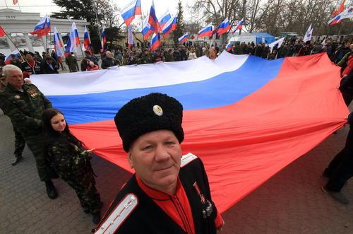 برگزاری جشن دومین سالگرد الحاق شبه جزیره کریمه به روسیه –بندر سواستوپول در کریمه