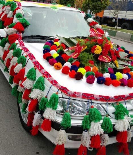 تزئین زیبای یک ماشین عروس در شیراز + عکس