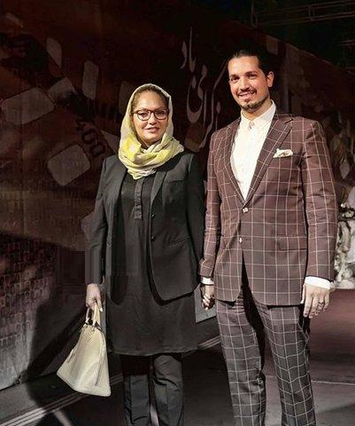 تیپ جدید مهناز افشار و همسرش / عکس