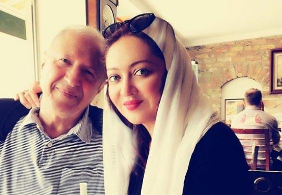 نیکی کریمی در کنار پدرش / عکس