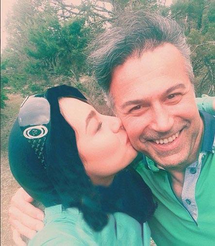 دانیال حکیمی و دخترش / عکس