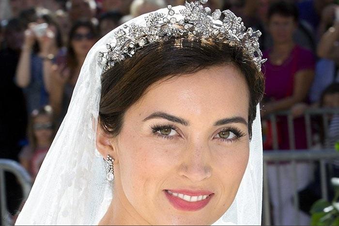 مدل نیم تاج عروس پرنسسی