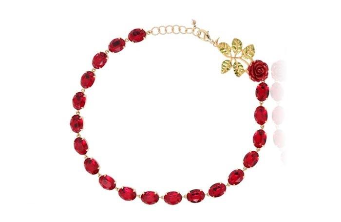 مدل جواهرات دخترانه طرح گل سرخ