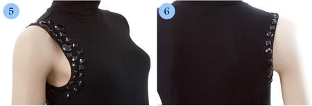 آموزش تصویری تک آستین کردن لباس