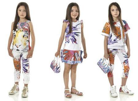 انواع مدل لباس دخترانه برند روبرتو کاوالی