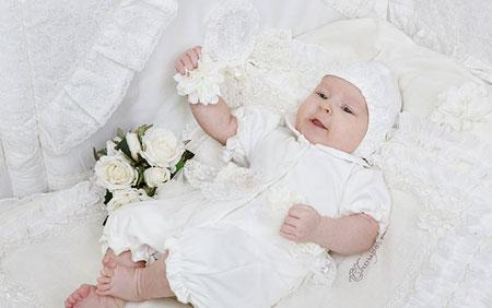 مدلهای جذاب از لباس نوزادی به رنگ سفید