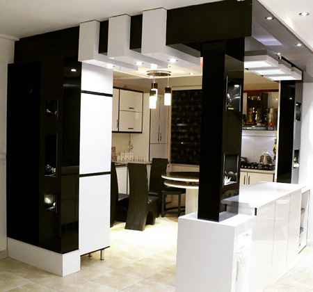 مدل دکوراسیون آشپزخانه برجسته
